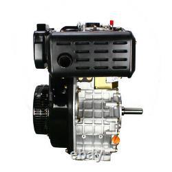 10 HP 406cc 4-stroke Diesel Engine Single Cylinder 72.2mm (2-5/6 Length) Shaft