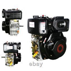 10 HP 406cc 4-stroke Tiller Diesel Engine Single Cylinder Ø 1'' Shaft 72.2mm