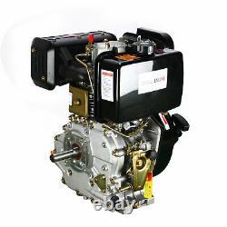 10HP 406CC Diesel Engine 4 Stroke Single Cylinder 2-5/6 Shaft Recoil Engine USA
