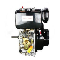 10HP 406cc Diesel Engine 4 Stroke Single Cylinder Forced Air Cooling Small Size