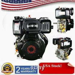 10HP 406cc Diesel Engine 4 Stroke Single Cylinder diesel engine with 72.2mm Shaft
