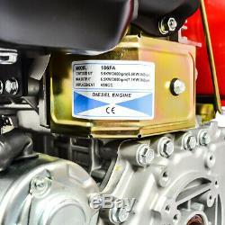 10HP 411cc Diesel Engine 4 Stroke Single Cylinder 2 5/6 Shaft Length in U. S