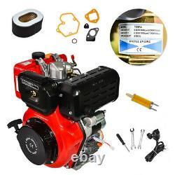 10HP Diesel Engine 4 Stroke 411cc Single Cylinder 72.2mm Shaft Electric Start