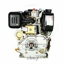 10HP Diesel Engine 406cc 4 Stroke Single Cylinder 2 5/6 Shaft Length Top