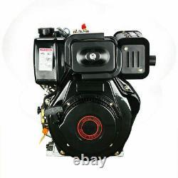 10HP Diesel Engine 406cc 4 Stroke Single Cylinder 72.2mm Shaft Manual Start