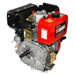10HP Diesel Engine 411cc Vertical 4 Stroke Single Cylinder 72.2mm Shaft Length