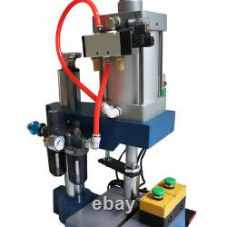 1760lb Pneumatic Press Machine Manual Button Single Acting Cylinder Stroke 2-4in
