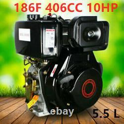 186F 406CC 10HP Diesel Engine 4 Stroke Single Cylinder 4 Bolt 5.5 L Small Size