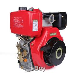 186F 406cc 9HP Diesel Engine 4 Stroke Single Cylinder Forced Air Cooling
