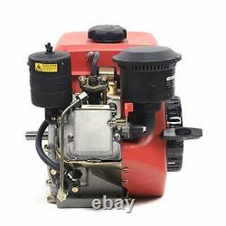 196CC 2.2KW Vertical 4 Stroke 6HP Diesel Engine, Manual Start Single Cylinder-A1