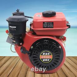 196CC 4 Stroke 6HP Diesel Engine vortex type Hand Recoil Start Single Cylinder