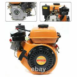 196CC 4 Stroke Diesel Engine, Single Cylinder, Air Cooling 2.2KW Flat Key Shaft