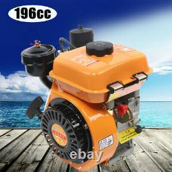 196CC 4-Stroke Diesel Engine Single Cylinder Air Cooling Motor 53mm Shaft US