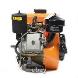 196CC Air-Cooled Diesel Engine 4-Stroke Vertical Single Cylinder Recoil Start