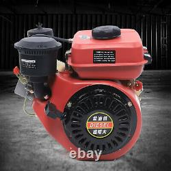 196cc 6HP Engine 4 Stroke Single Cylinder Vertical Engine Air-cooling US Stock