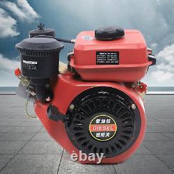2.2KW Diesel Engine Single Cylinder 4-Stroke 6HP 196cc Shaft Length 53mm