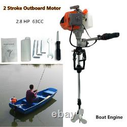 2 Stroke 2.8HP Heavy Duty Outboard Motor Boat Engine withAir Cooling System CDI