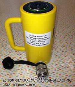 20 TON single acting hydraulic cylinder jack ram 100 mm stroke £72.00 + vat