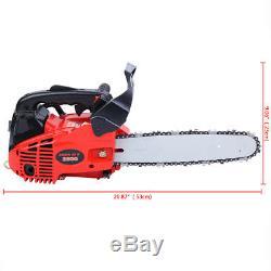 25.4cc Gasoline Chainsaw Single Cylinder 2-Stroke 9800RPM Hand Hold Chain Saw