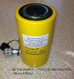 30 TON single acting hydraulic cylinder jack ram 100 mm stroke £99.00 + vat