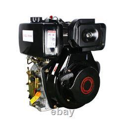 4 Stroke 10HP Diesel Engine Single Cylinder 72.2mm Shaft Length 406cc Free Ship
