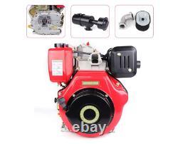 4 Stroke 10HP Diesel Motor Engine Heavy Duty 406CC Diesel Motor Single Cylinder