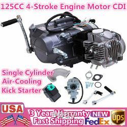4-Stroke 125cc Engine Manual Clutch Motorcycle ATV Motor Single Cylinder 4 Speed