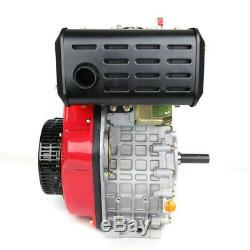 4 Stroke 9.0HP Diesel Engine Single Cylinder 406cc 72.2mm Shaft Length Red Color