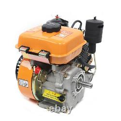 4-Stroke Diesel Engine Single Cylinder 196cc Shaft Length 53mm with Air Cooling US
