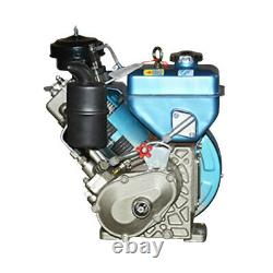 4 Stroke Single Cylinder Diesel Engine Air Cooling Hand Crank Diesel Motor USA