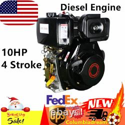 406CC 10HP Diesel Engine 4 Stroke Single Cylinder Air Cooling Recoil 3600rpm US