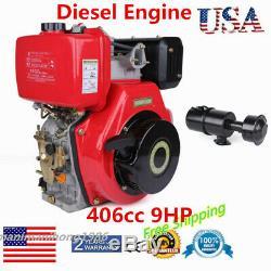 406cc 9HP Diesel Engine 4-Stroke Single Cylinder air cooling diesel engine Kit