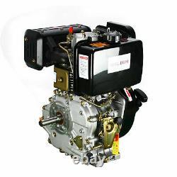 406cc 9HP Diesel Engine 4Stroke Single Cylinder 72.2mm Shaft Air Cooling US Ship