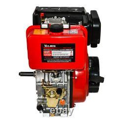 411cc 10HP Diesel Engine 4 Stroke Single Cylinder 72.2mm Shaft Length EU Stock