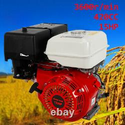 420CC 15HP 4Stroke OHV Single Cylinder Air Cooling Engine Recoil Pull Start 190F