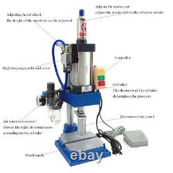 440lb/ 200kg Pneumatic Punch Machine 75 to 50mm Stroke Press Desktop Equipment