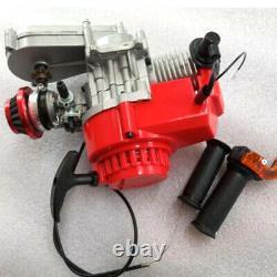 49CC 2 Stroke Air Cooled Racing Engine Motor Pocket Bike Mini Dirt Bike ATV US