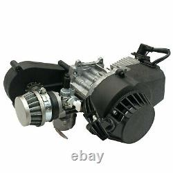49CC 2-Stroke Engine Motor Kit Chain For Mini Pocket Pit Dirt Bike ATV Scooter