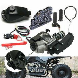 49CC 2 Stroke Mini Motor Air Cooled Racing Engine For Pocket Bike ATV Scooter US