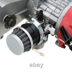 49CC 2STROKE Racing ENGINE POCKET MOTOR T8F Chain For MINI BIKE ATV SCOOTER US
