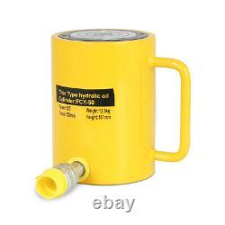 50 Tons 4 100mm Stroke Single Acting Hydraulic Cylinder Jack Ram US Stock