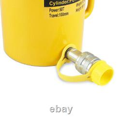 50 Tons 4 100mm Stroke Single Acting Hydraulic Cylinder Jack Ram USA