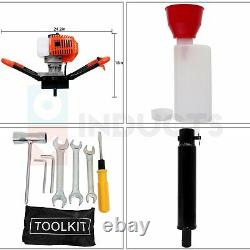 52 CC 2-Stroke Gas Powered Earth Auger Electric Power Engine Post Hole Digger