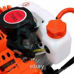 52 CC Gas Powered Earth Auger Electric Power Engine Post Hole Digger 2 Stroke