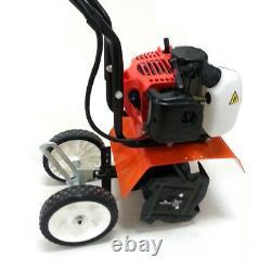 52cc 2Stroke Farm Tiller Gas Powered Mini Soil Tiller Cultivator Single Cylinder