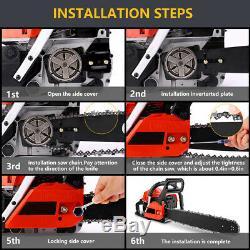 58CC 4 HP 20 Inch Petrol Chain Saw Gas Power Chainsaws 2 Strokes Single Cylinder