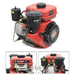 6 HP 4 Stroke Diesel Engine 196CC Single Cylinder Forced Air Cooling Horizontal