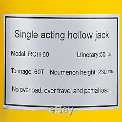 60 tons 2 stroke Single acting Hollow Ram Hydraulic Cylinder Jack