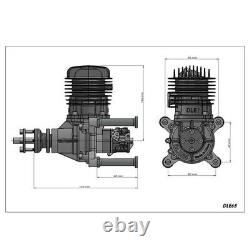 65CC DLE65 Gasoline Engine Single Cylinder Two-stroke Fit For RC Airplane Model