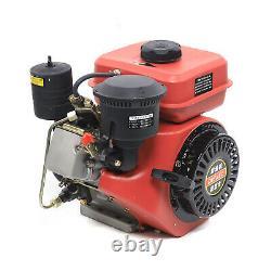 6HP 0.7L 4-Stroke Diesel Engine Single Cylinder Vertical Engine Motor 53mm Shaft
